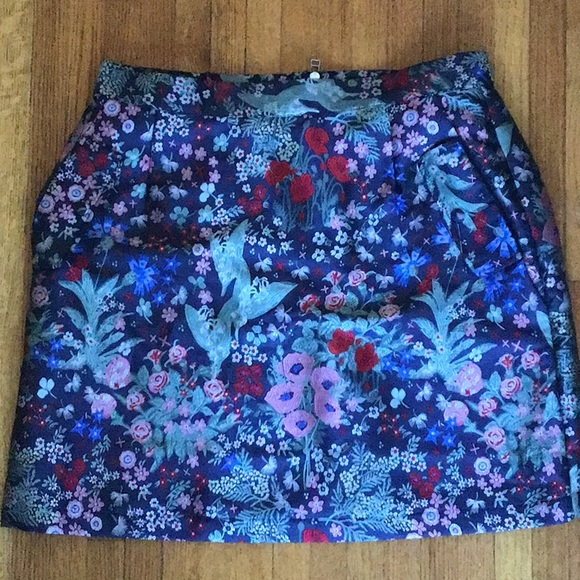 Frank and Oak embroidered skirt Size L NWT